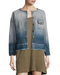 Current/Elliott The Off Duty Cropped Ombre Denim Jacket