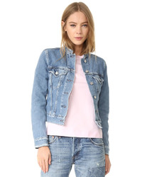 Top frayed denim jacket medium 1251278