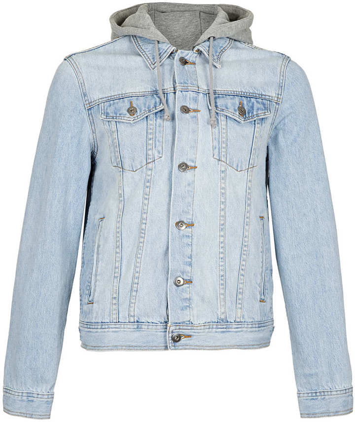 Topman Light Wash Hooded Denim Jacket | Where to buy & how to wear