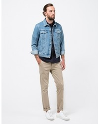 Topman Lightwash Denim Western Jacket Where To Buy How To Wear