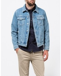 Topman Lightwash Denim Western Jacket