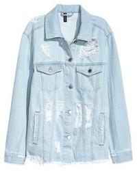 H&M Trashed Denim Jacket