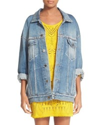 Roberto Cavalli Star Back Denim Jacket