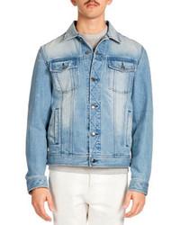 Ami Washed Denim Jacket Blue