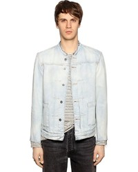Washed denim jacket w raw cut edges medium 4416615