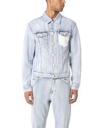 3.1 Phillip Lim Washed Denim Jacket With Crochet Pocket