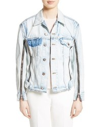 Zipper detail denim jacket medium 3655723