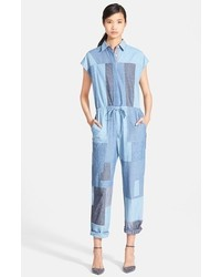 3.1 Phillip Lim Patchwork Denim Jumpsuit