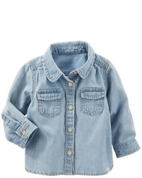 Osh Kosh Baby Girl Oshkosh Bgosh Denim Shirt