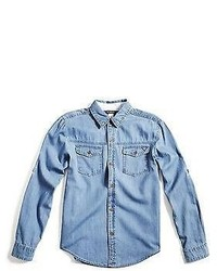 GUESS Boy Slater Dobby Denim Shirt
