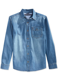 Tommy Hilfiger Boys Long Sleeve Max Denim Shirt