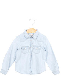 Bonpoint Girls Denim Button Up Top