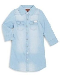 7 For All Mankind Little Girls Denim Button Front Top
