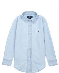 Ralph Lauren Long Sleeved Cotton Denim Shirt 5 7 Years