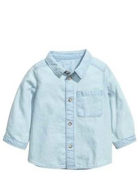 H&M Washed Denim Shirt