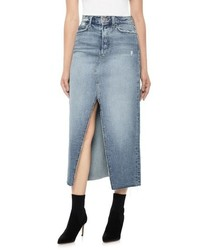 Joe's High Waist Long Denim Skirt