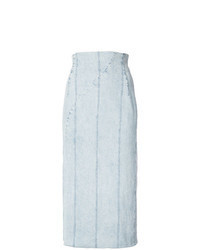 Light Blue Denim Midi Skirt