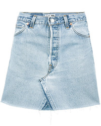 Light Blue Denim Mini Skirt