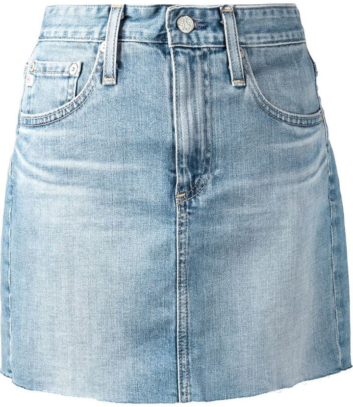 AG Jeans Raw Edge Denim Skirt | Where to buy & how to wear