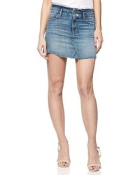 Paige Alethea Frayed Denim Miniskirt