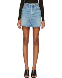 Blue originals high rise rigid denim miniskirt medium 5082200