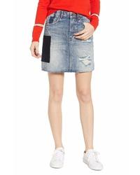 Scotch & Soda Freak Applique Denim Miniskirt