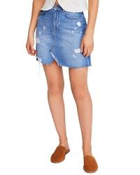 Free People Hallie Denim Miniskirt