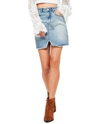 High rise denim miniskirt medium 5257044