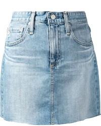 Raw edge denim skirt medium 310553