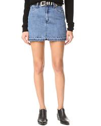 Step up denim mini skirt medium 1189366