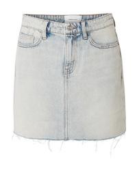 Current/Elliott The Five Pocket Frayed Denim Mini Skirt