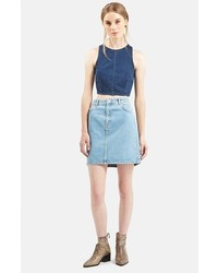 Topshop Moto High Rise Denim Skirt | Where to buy & how to wear