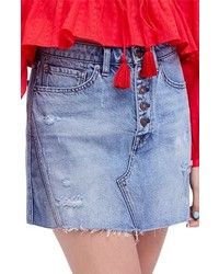 Free People We The Free By A Line Denim Skirt