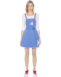 Stevej yonip cotton denim overall dress medium 279188