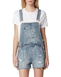 BLANKNYC Distressed Short Overalls