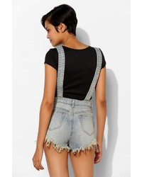 bc8778ca2bb ... Urban Outfitters Unif Rainbow Denim Overall Short ...