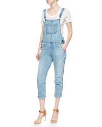 AG Jeans Ag Finn Vintage Distressed Overalls