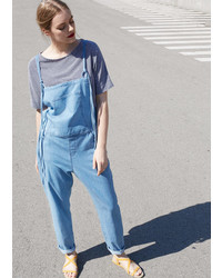 Violeta BY MANGO Light Denim Dungarees