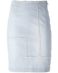 Frame Denim Panelled Pencil Denim Skirt