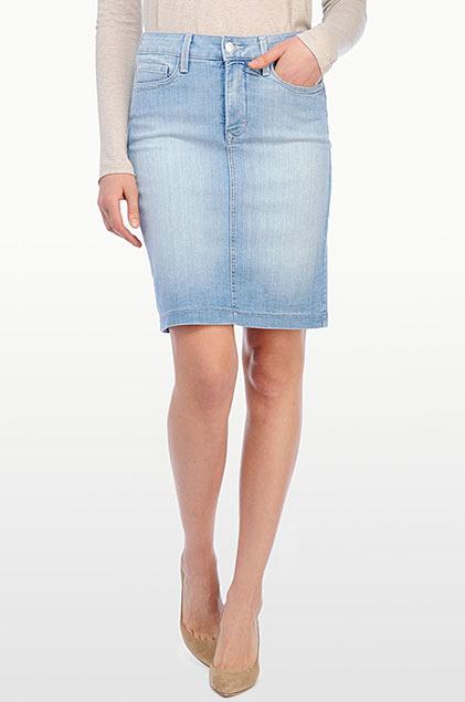 nydj skirt in premium lightweight denim where to