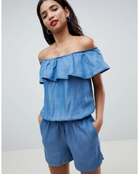 Esprit Bardot Denim Playsuit