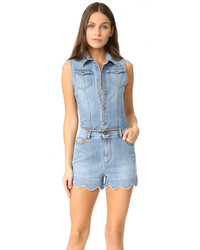 Denim scalloped romper medium 3659127