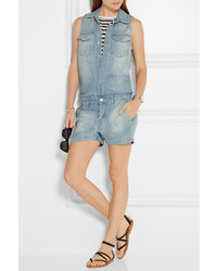 J Brand Kayla Denim Playsuit Light Denim