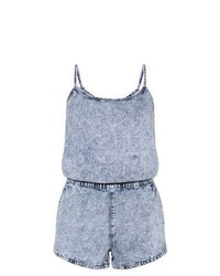 8deed2bb012 ... New Look Blue Acid Wash Denim Playsuit