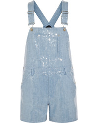 Moschino Sold Out Sequined Denim Playsuit