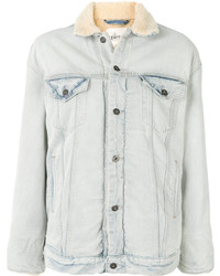 Levi's Made Crafted Shearling Trim Denim Jacket