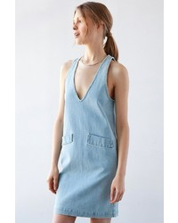 Courtshop Car Plunging Denim Shift Dress