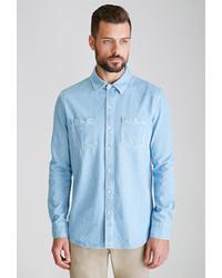 21men 21 Denim Button Down Shirt