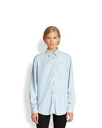 Acne Studios Wave Oversized Denim Shirt Light Blue