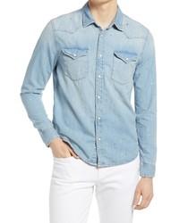 AG Aiden Western Denim Button Up Shirt